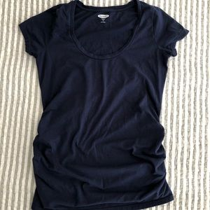 Navy blue maternity T-shirt
